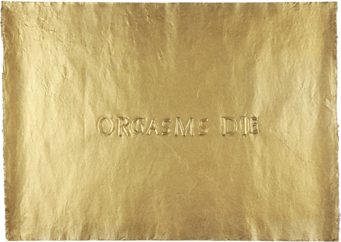 BORIS+NATASCHA, 2010, Oracle from the grave of Jim Morrison, Paris, frottage on handmade paper, 47 x 66 cm, unique piece